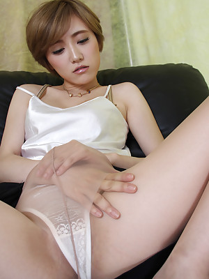 Yuu Ishiki Asian with naughty tits touches her cunt over panty